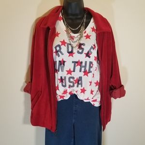 Vtg Kindred Spirit Red Utility Jacket, L USA Made